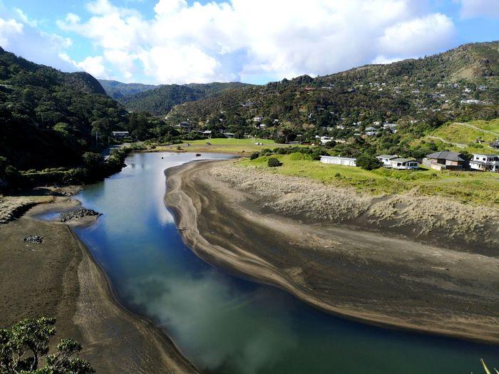 Looking inland from up on Te Piha. River Hills NZ Piha Beach EyeEm Selects Water Nautical Vessel Sky Cloud - Sky Landscape Tranquil Scene Scenics