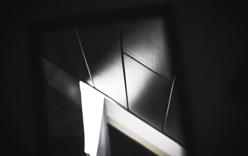 Abstratct Black Blackandwhite Close-up Day Illuminated Indoors  Light And Shadow Mirror No People Window