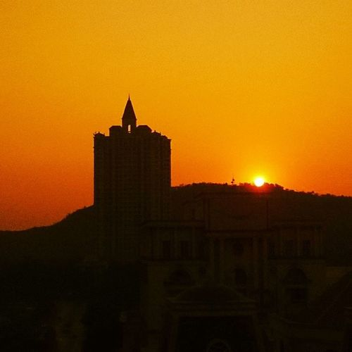 Sunrise Mumbai Powai India buildings architecture morning