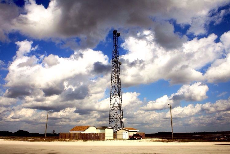 The tower Everglades National Park Alligator Alley Radiotower Clouds And Sky Truck Bigsky Florida Landscapes With WhiteWall