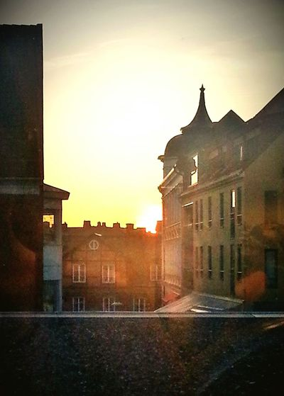 Lund Sunset Old Buildings