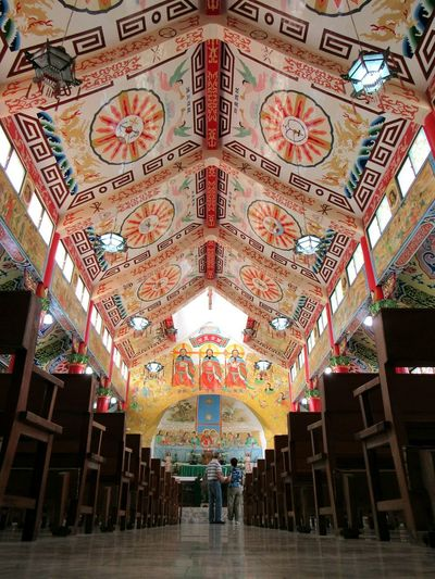 Just an amazing ceiling indoors ceiling multi colored architecture travel destinations pattern built structure day people EyeEmNewHere The Week on EyeEm Yen-Shui Holy Church, Tainan, Taiwan
