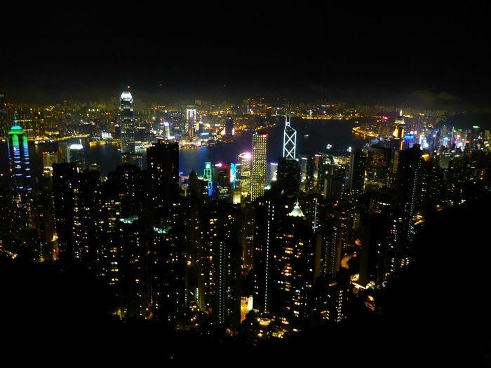 VictoriaPeak HongKong Hongkongnight Thepeak City Lights Cityscape Throwback Cityscapes Cities At Night