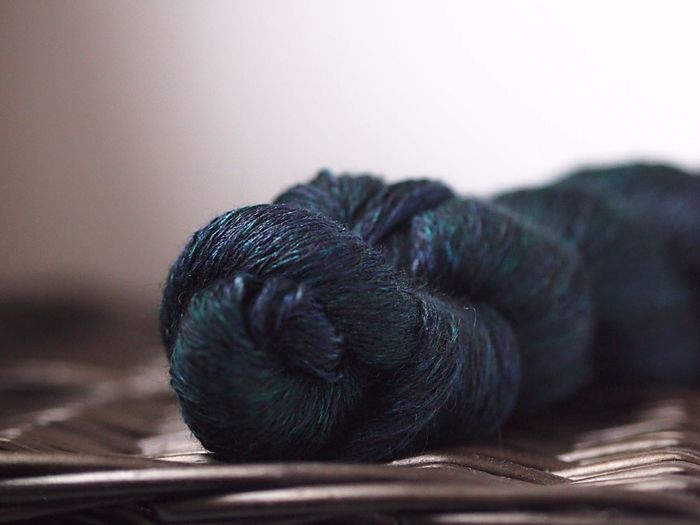 Close-up of a yarn skein