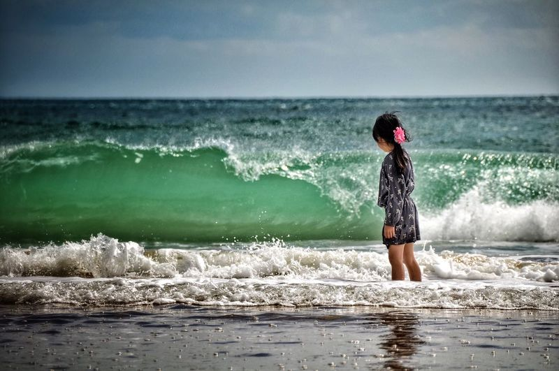 Photography In Motion Waves whisperer Ocean Ocean View Girl At Beach Girl Watching The Sea Waves Waves, Ocean, Nature Waves Crashing Waves Rolling In Beach EyeEm Nature Lover EyeEM Beach Photography EyeEm Best Edits Showcase April Blue Wave