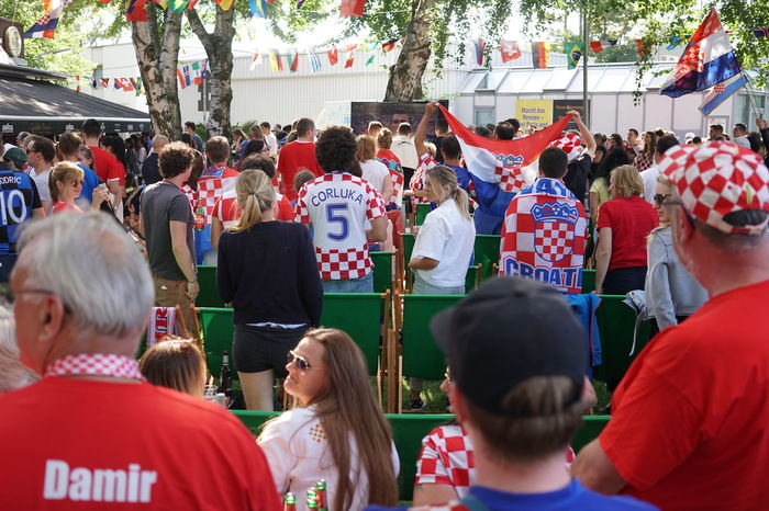 Berlin, Germany - July 15, 2018: Croatian football fans watching FIFA World Cup 2018 match France vs Croatia. France became World Champions for the second time after defeating Croatia 4-2 Croatia Croatia ❤ FIFA World Cup Russia Fifa Football Football Fever SUPPORT Supporters Audience Competition Croatia ♡ Croatian Fan Fan - Enthusiast Fans Fifa18 Fifa2018 Final Football Fan Football Fans Football Fans 2018 Football Supporters Match - Sport Soccer Soccer⚽