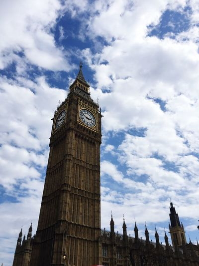 Low Angle View Cloud - Sky Architecture Built Structure Clock Tower Cultures History No People