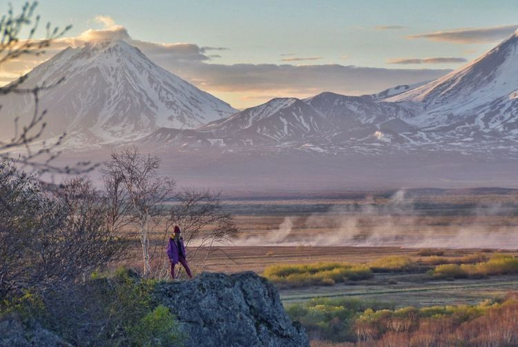 Океан. Peopleinnature Beauty Volcano Kamchatka Scenics - Nature Beauty In Nature Landscape Real People Sky Tranquil Scene Travel Outdoors Nature