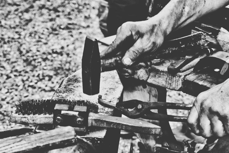Hands At Work Handmade Black & White Exceptional Photographs Bnw_collection Black And White Blacksmith  This Is Masculinity