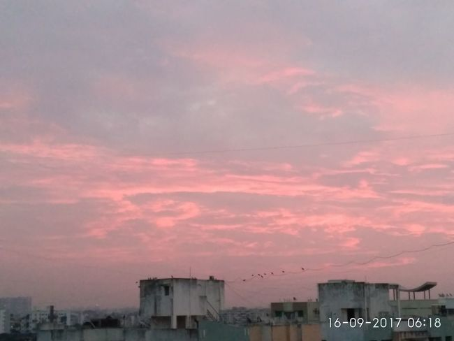 Sunrise And Clouds Tranquility No People Peaceful Outdoors Sky Cloud - Sky