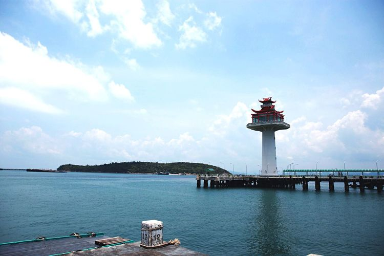 Tower SichangBeach SICHANGISLAND Sichang Water Sky Built Structure Architecture Cloud - Sky Building Exterior Tower Nature Sea Day Travel No People