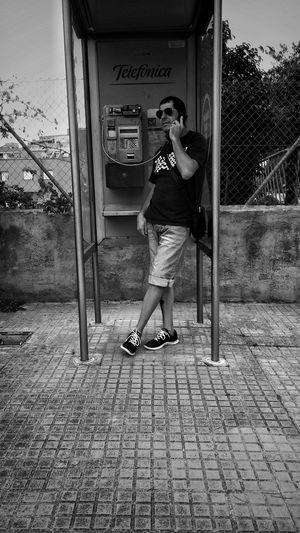 Urbanphotography That's Me Telephone Box Black & White