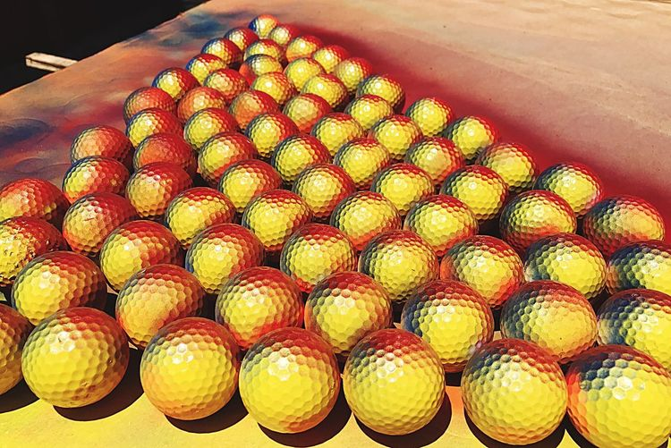 Spray Paint Golf Balls for a Tournament in Memphis, TN for the Memphis and Shelby  Humane Society