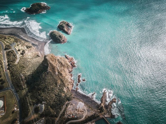 Water Sea High Angle View Nature Beach Land Day Beauty In Nature Real People Sunlight Leisure Activity Outdoors Sport Sand Tranquility Lifestyles People Turquoise Colored Tranquil Scene Holiday