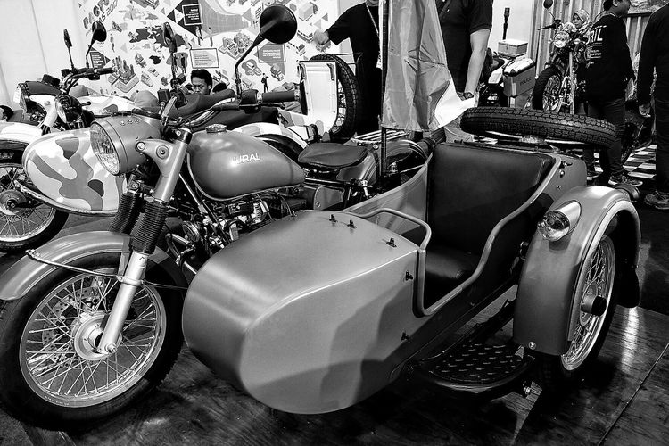 ural m70 retro classic | russia Day Sitting Outdoors Ural Motorcycle Classic Russia Transportation Giias2017