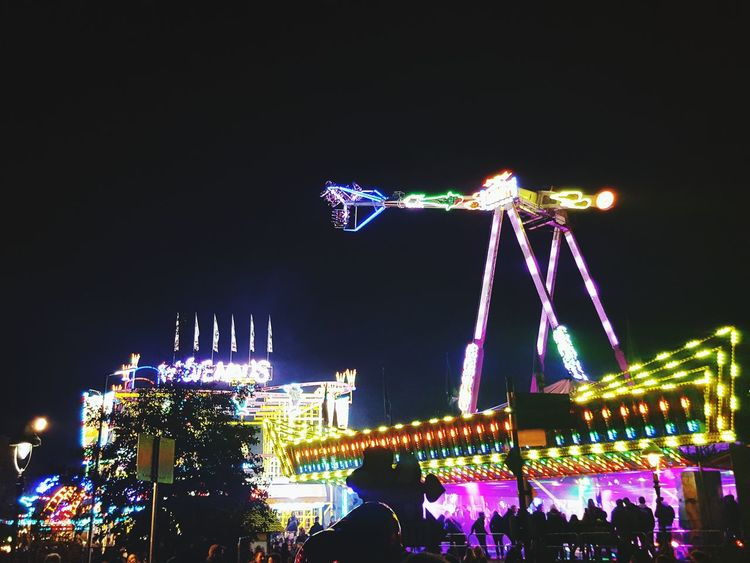 Night Allerheiligenkirmes Soest Every Year Again Lights Attractions