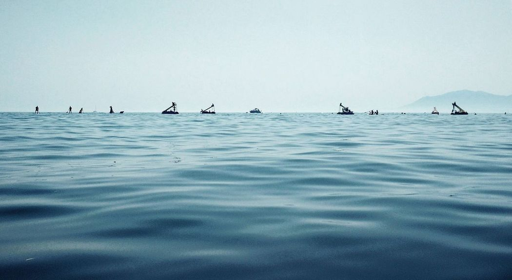 Sea Waves Seaactivities Toboggans Paddlesurf Horizon Mediterraneo Shadows Blue Summer