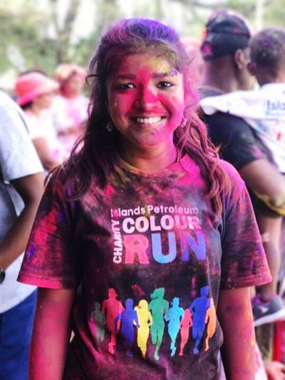 My daughter is my supporter ... enjoyed the charity Colour Run in PNG