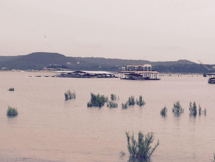 Lake Travis during drought