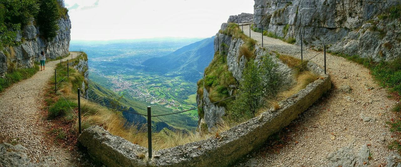 "WWI Memorials, ""La Granatiera"" clinging mule track, Monte Cengio, Vicenza, Italy Travel Italy Vicenza Monte Cengio Mobile Photography Art Fineart Panoramic Views Scenic Landscapes Mountains"