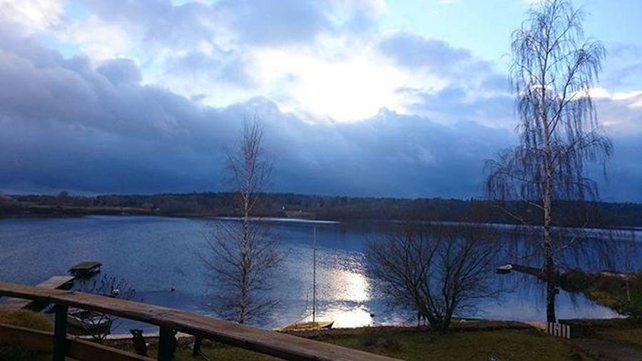 Kārtējais svētdienas skats uz dabu. Lielvardes_osta Daugava Nofilter Latvia Lielvarde November