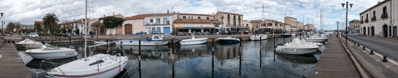 Marseillan Languedoc-Roussillon LanguedocRoussillon Mittelmeer Noilly Prat Hérault Panorama Marseillan France EyeEm Selects Building Exterior Built Structure Architecture Cloud - Sky Moored Nautical Vessel Mode Of Transport Day Outdoors Water