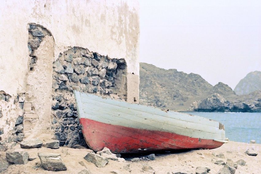 Summer 1989 1980s 20th Century Boat Day EyeEm Best Shots Matrah Nature Nautical Vessel Old Photo Old Picture Oman Outdoors Shore Sky Wall Water