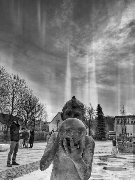 Local Magician Wejherowo 5 December 2015 IPhoneography Iphone 6 Plus Wejherowo EyeEm Best Shots EyeEm Masterclass Conceptual Statue Poland Streetphotography Streetphoto_bw Skyporn Processed IPSWeather