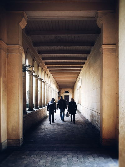 Three... Architecture Church Three Streetphotography Politics And Government City Full Length Cityscape Architectural Column Silhouette Museum Walking Togetherness Corridor Historic Palace Passageway Royalty History Archway Visiting Colonnade