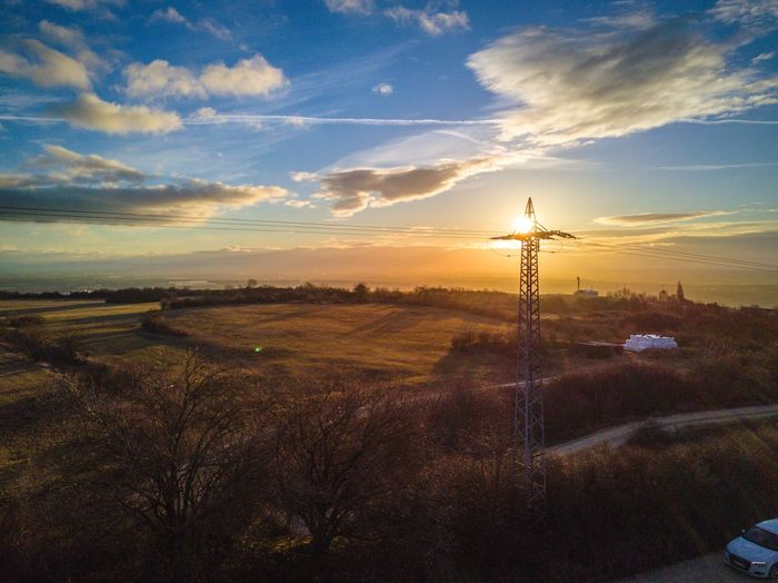 Perspectives On Nature enjoy the nature from above Sky Landscape Sunset No People Dronephotography Drone  Unique Perspectives Mavic Pro Aerial View Beauty In Nature Flying High Frome_above Hydeartsmedia
