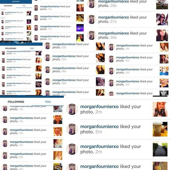 I think she misses me just a little bit as well... Hahaha 😂 Bestfriend MissHer Creeper 1moreweek 😘🙈😂 @morganfournierxo