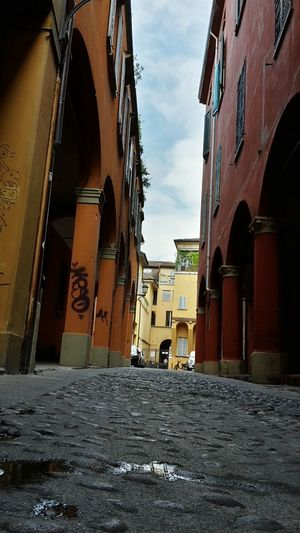 Bologna Italy Street Photography Arcades Columns Old Houses Walking Around The City  Travel Photography