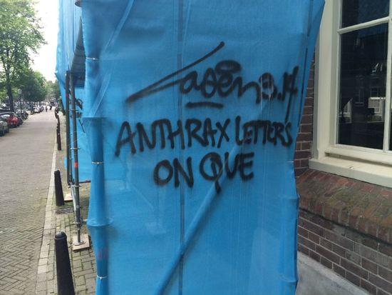 Anthrax Letters On Que Street Art Urban Art Graffiti Laser 3.14
