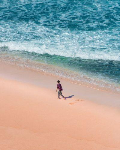 Full length of man on beach