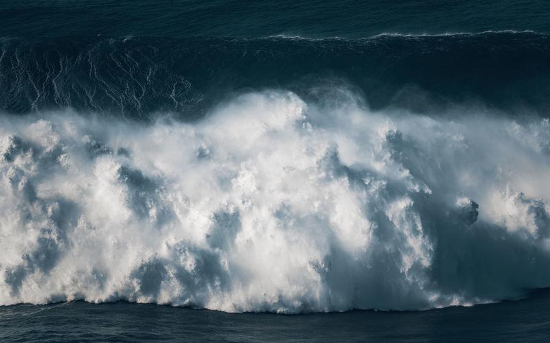 Gigantic wave breaking