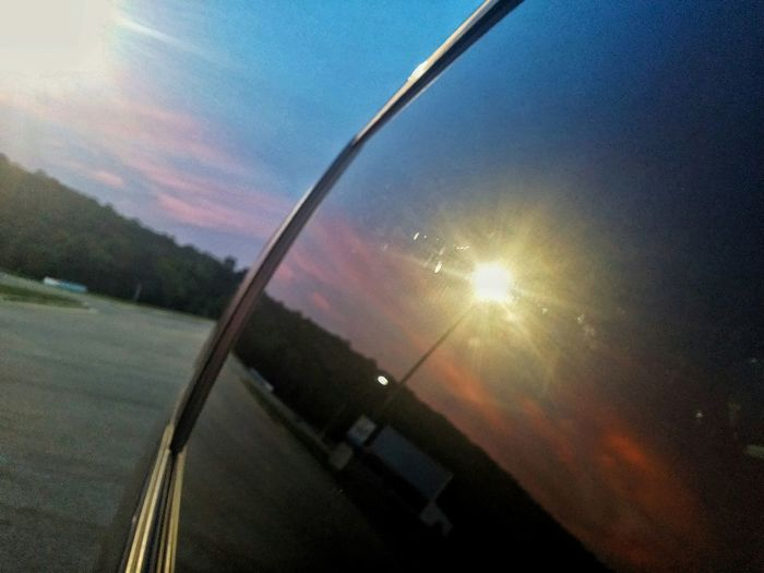 Through the glass Reflection Sunset Window Latepost