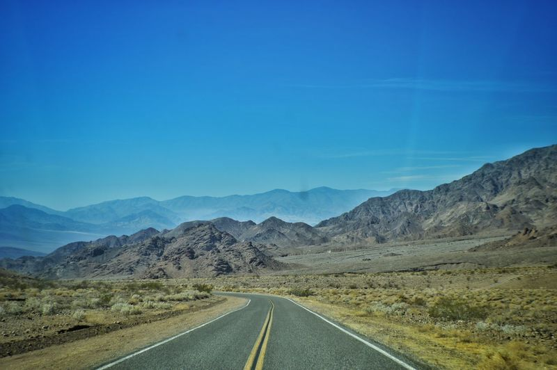 Roadtrip Nevada Death Valley Road Mountain Landscape No People Outdoors Desert Nature