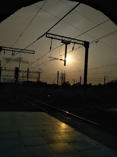 Sun Original Photography Nofilter Nofilters Railway Track Same Place Rail Transportation Power Line  Railroad Track Phonephotography📱 The Way Forward Phoneographer The Traveler - 2018 EyeEm Awards The Creative - 2018 EyeEm Awards 10