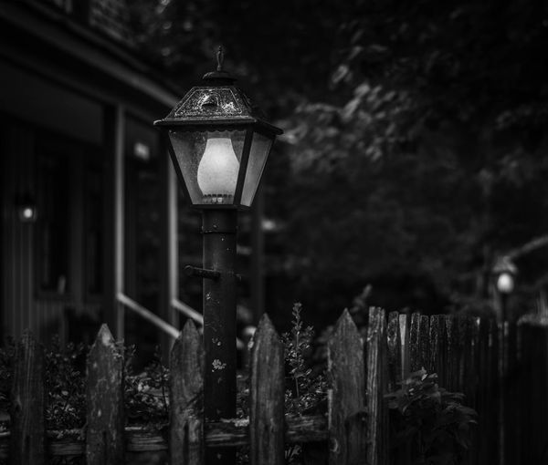 1880 English Victorian town with incredible architecture and preserved structure. Architecture Barrier Boundary Built Structure Close-up Electric Lamp Electricity  Fence Focus On Foreground Illuminated Lighting Equipment Metal Nature Night No People Old Outdoors Security Street Light