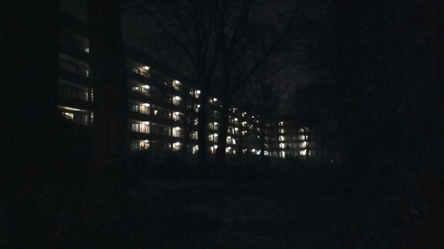 Dystopian Neighborhood. · Hamburg Germany 040 Hh Barmbek Architecture City Planning Worker Neighborhood City Block City Lights Night Lights Night Photography Night Darkness Low Quality