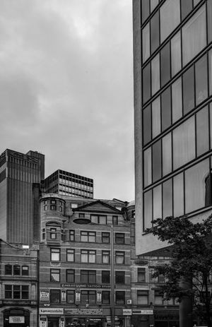 Architecture Building Exterior Built Structure City Cityscape Cloud - Sky Day Manchester City Centre Modern No People Outdoors Sky