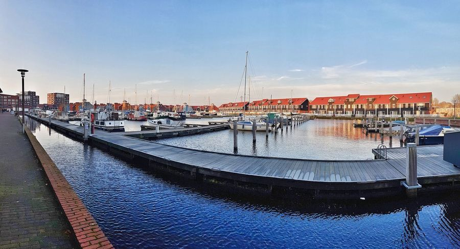 Reitdiephaven Reitdiep Harbour Harbor Harbour View Panorama Panoramic Wide Angle