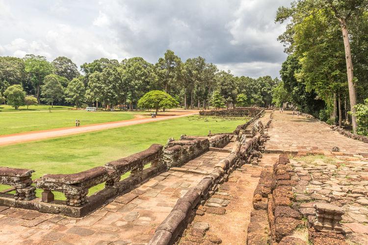 The ruins in Bayon Cambodia Siem Reap Angkor Thom Bayon