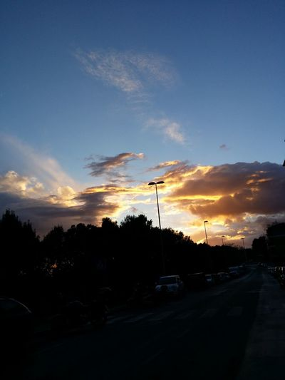 Adesso In Front Of Me Clouds And Sky Sunset
