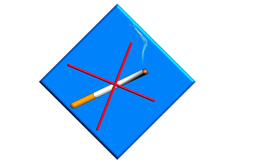 No smoking sign Burning Cigarette on a blue sign against a blue background Studio Shot Blue White Background Indoors  Cut Out Still Life No People Copy Space Close-up Art And Craft Shape Geometric Shape Paper Multi Colored Red Design White Color Creativity High Angle View Communication Blank