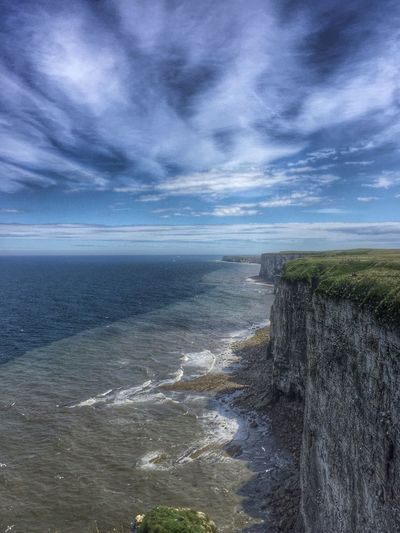 Peace on the cliff tops. Cliffs Cliff Top Coastline Coastal Cliff Bempton Cliffs United Kingdom Coast Line  Sea And Sky Sea View Getty X EyeEm Cliff Face Seascape EyeEm Sky And Clouds English Coastline Yorkshire EyeEm Gallery Amazing View EyeEm Best Shots Amazing Place Eye4photography  Peace Tranquility Tranquil Scene