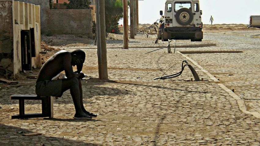 The Human Condition Men Africa Caboverde Poorman Taking Photos Photooftheday IsolaDiSal EyeEmAfrica World