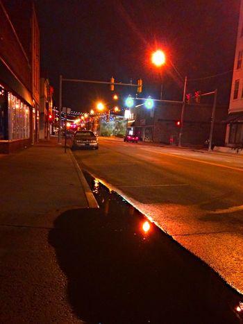 City City Life City Street Dark Illuminated Land Vehicle Mode Of Transport Night Outdoors Road Sky Street Light The Way Forward