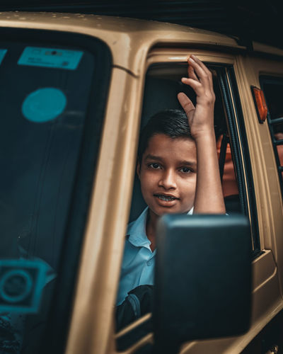 School Time Children Only Childhood School Life  School Uniform Children Photography Streetlife Streetphotography The Street Photographer - 2019 EyeEm Awards Wireless Technology Technology Men Portrait Young Women Looking Through Window Window Train - Vehicle City Close-up Bus School Bus Vehicle Seat Passenger Commuter