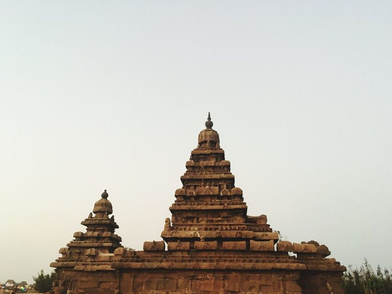 Place Of Worship Copy Space Religion Architecture Building Exterior Spirituality Built Structure Low Angle View Clear Sky Outdoors No People Day Sky Mahabalipuram, India Mamallapuram
